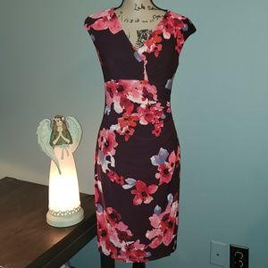 New Lauren Ralph Lauren Sleeveless Faux Wrap Dress